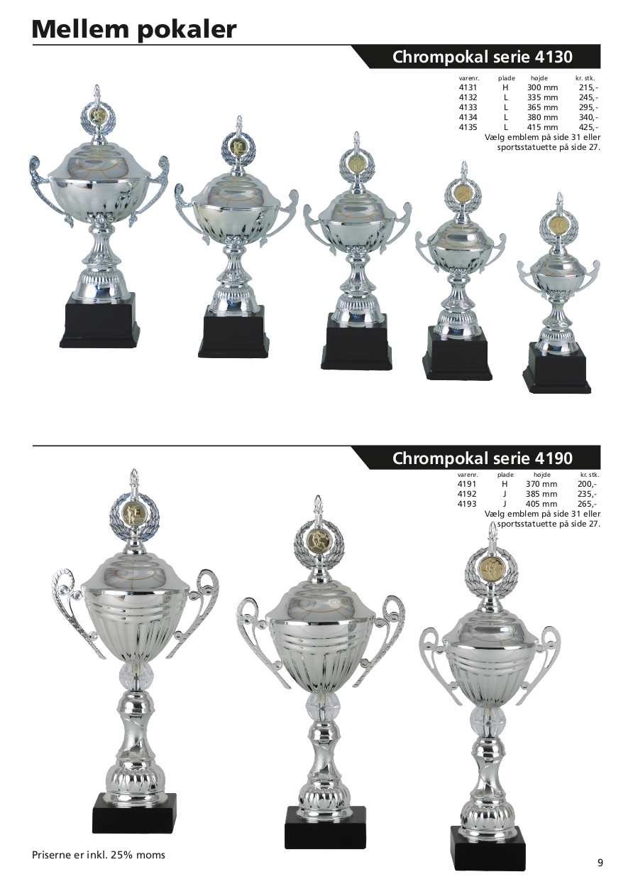 Side 9 af 40 - Chrompokal serie 4130 & 4190 med hank