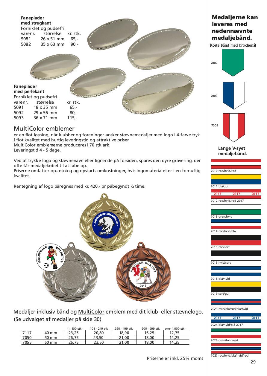 Side 29 af 40 - Faneplader, medaljebånd & MultiColor emblemer