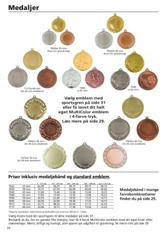 Side 30 af 40 - Medaljer, fodbold & løbe medaljer