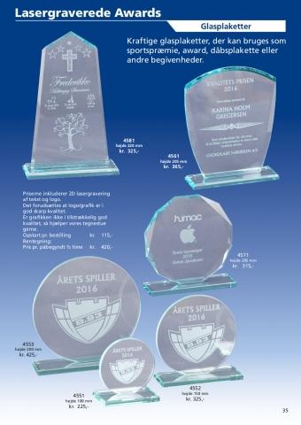 Side 35 af 40 - Lasergraverede glas awards