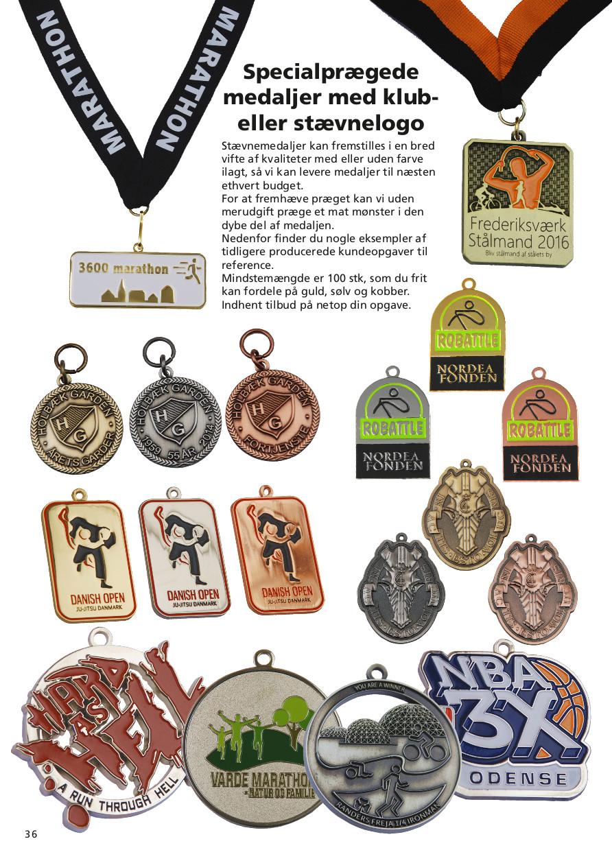 Side 36 af 40 - Specialprægede medaljer