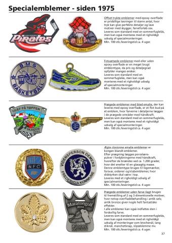 Side 37 af 40 - Pins og emblemer efter opgave