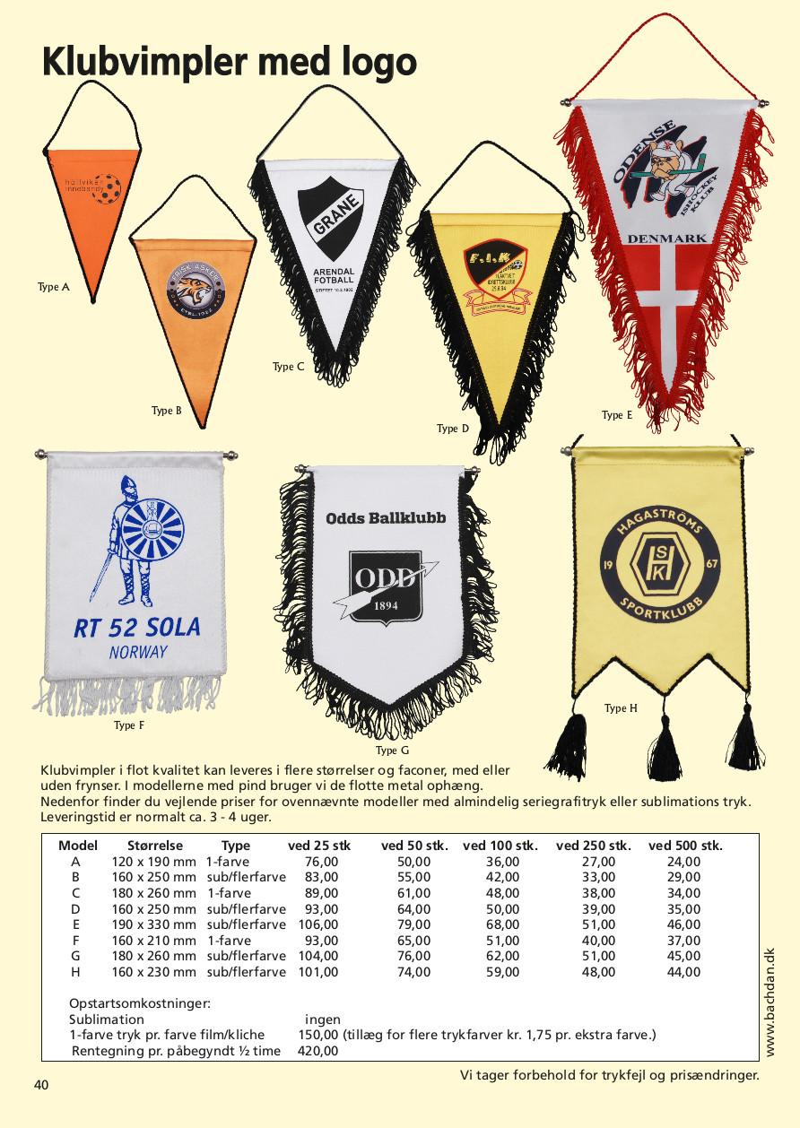 Side 40 af 40 - Flotte klubvimpler med logo